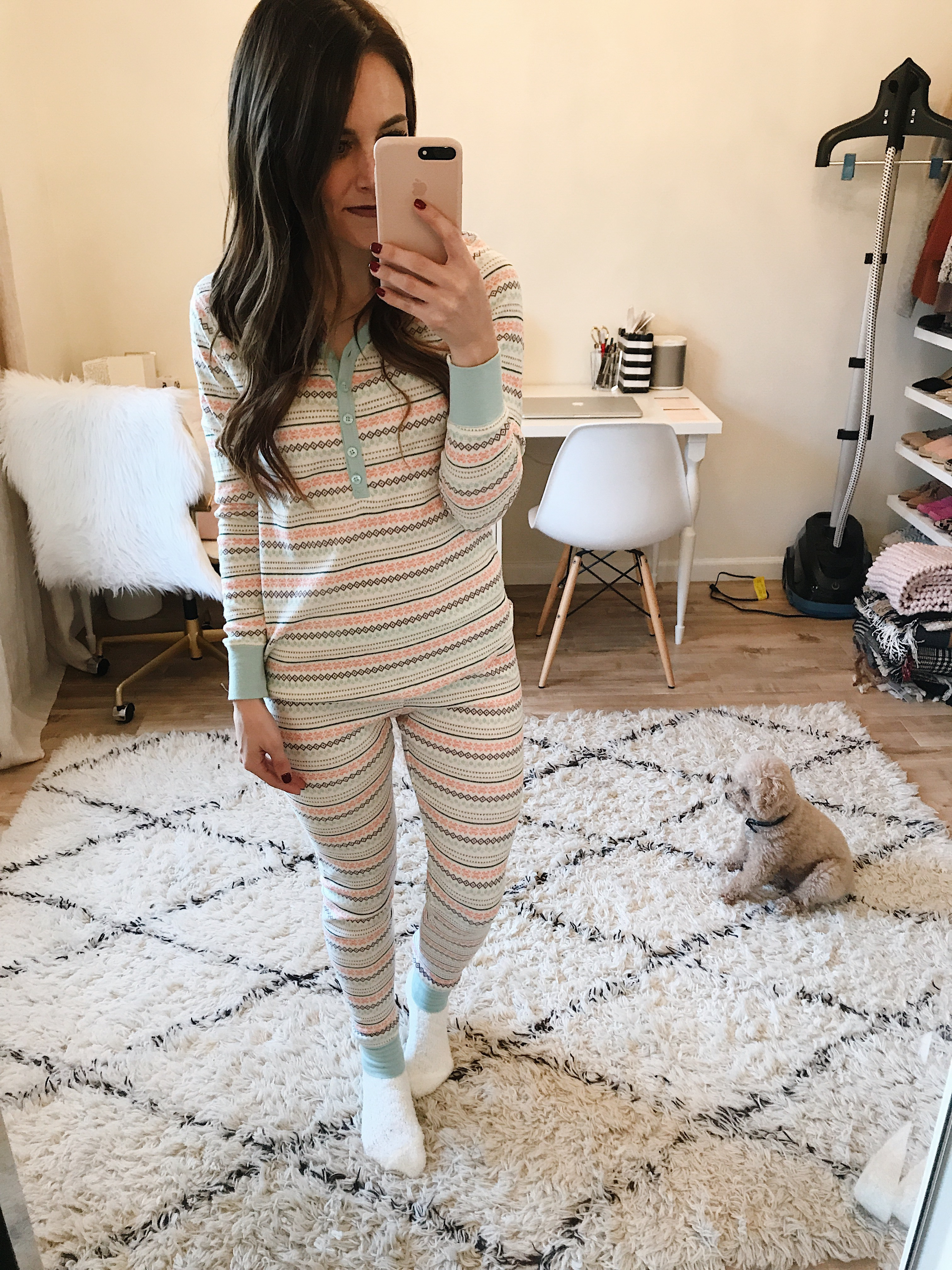 Style blogger Daryl-Ann Denner shares the best christmas pajamas 2017 and shares options to give as gifts