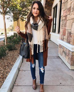 Style Blogger Daryl-Ann Denner shares the best scarves under $50 and how to style them for winter 2017