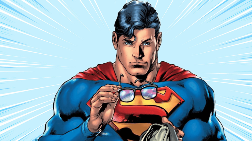 Superman takes off his glasses to reveal his Secret Identity.