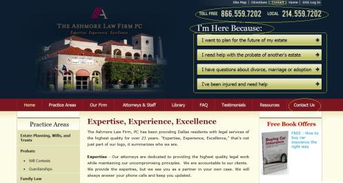 Dallas social media speaker J.R. Atkins talks about The Ashmore Law Firm website