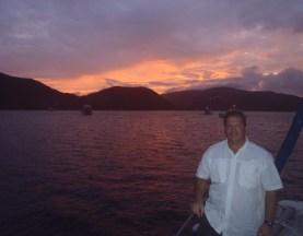 Captain J.R. Atkins at sun Set