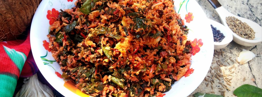 Amaranth Leaves with Crushed Coconut (Cheera Thoran)