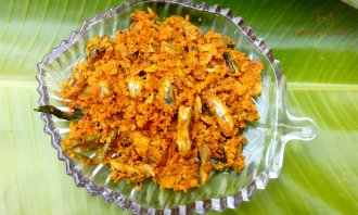 Netholi thoran - How to make Kerala Netholi Anchovies Thoran