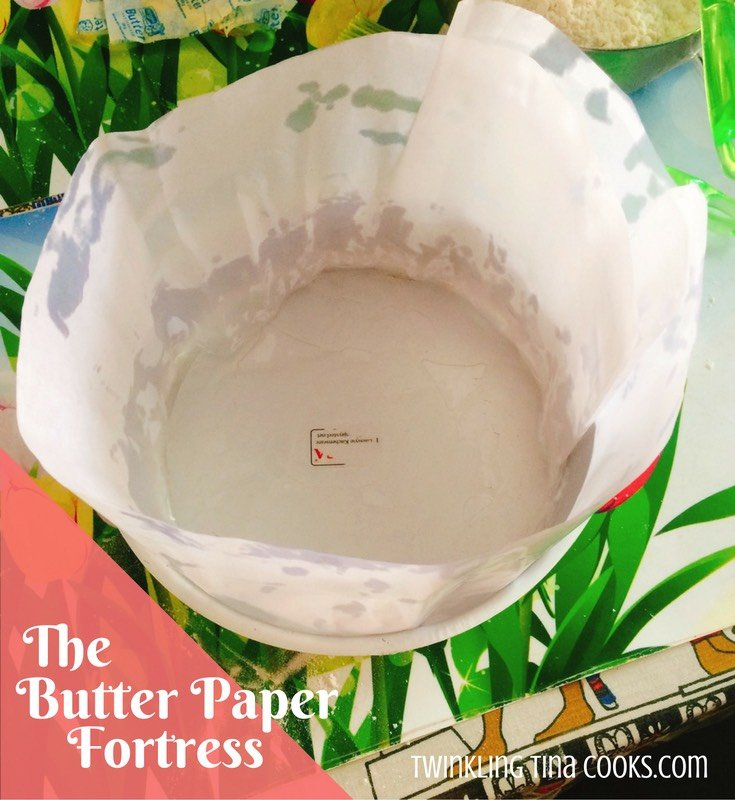 Holiday Fruit Cake - Preparation - Butter Paper