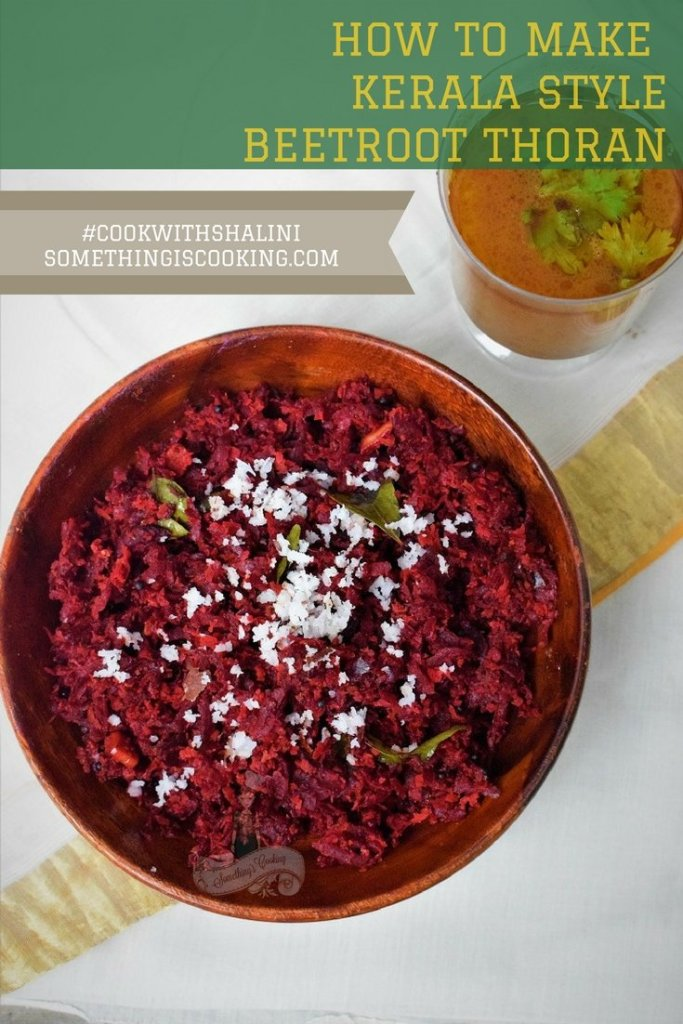 How to make Beetroot thoran with without coconut PInterest