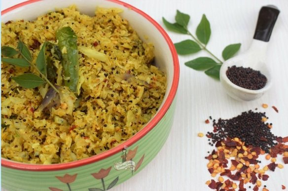 Cabbage stir fry Kerala Style with grated coconut