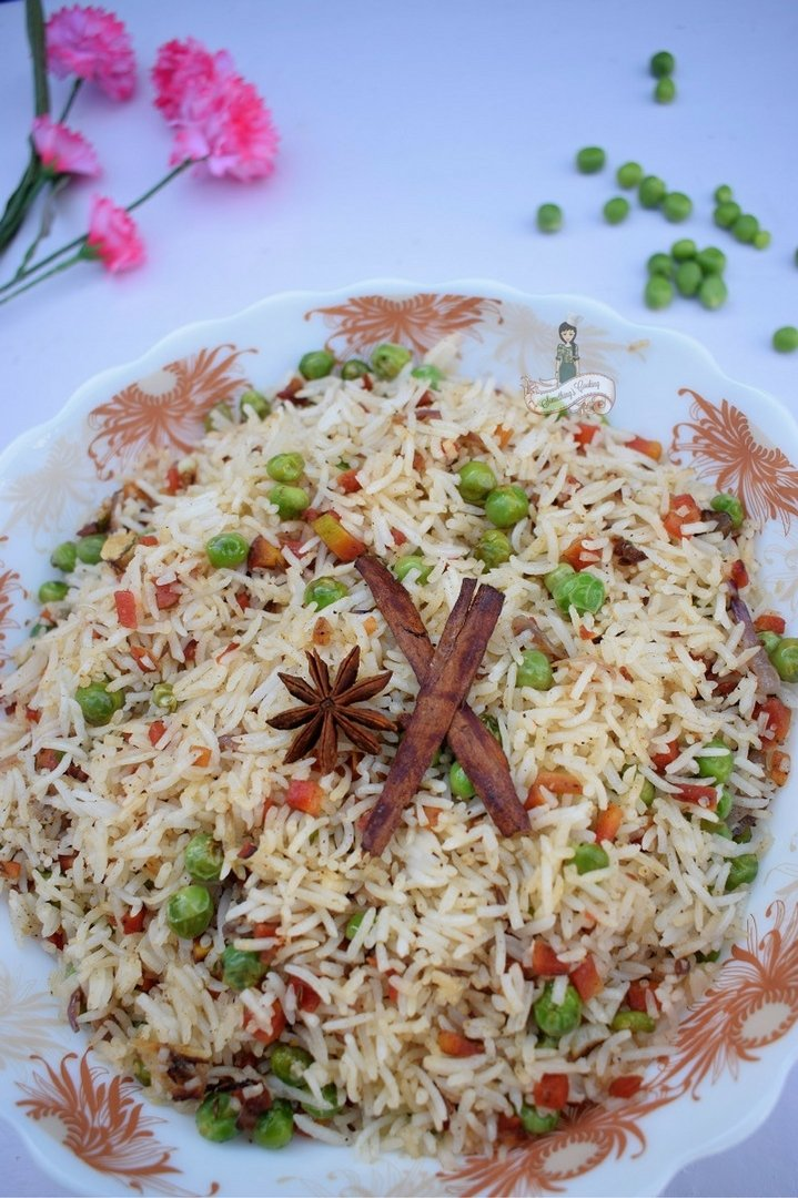 Carrot and Pea Pilaf