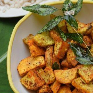 Chembu Mezhukkupuratti | Taro Root Stir Fry