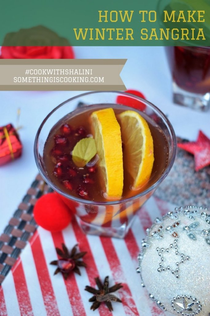 How to make winter sangria pinterest