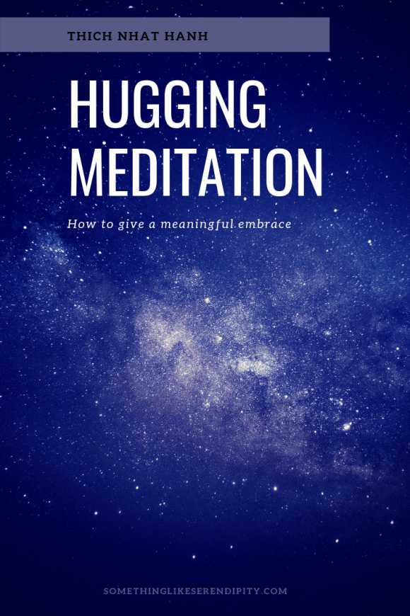 hugging meditation, giving a meaningful embrace