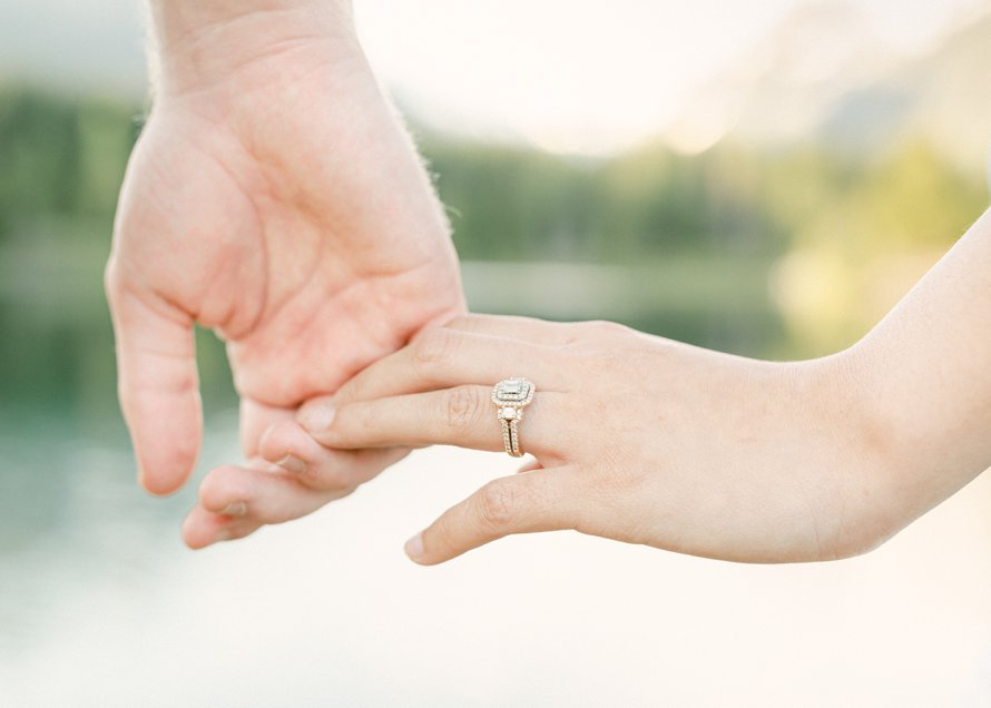 Engagement Ring-Gold Creek Pond Photography-Mountain Engagement Session-PNW Photographers-Something Minted Photography