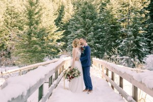 Winter Elopement-Mount Rainier Elopement-Winter Wedding Photography-Snowy Bride and Groom Photos-Something Minted Photography
