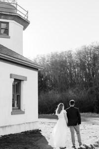 Black and White Engagement Session-Point Robinson Park-Vashon Island-Something Minted Photography