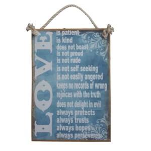 Country Printed Quality Wooden Sign Child Proofed The House Plaque New Gift