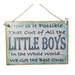 Country Printed Quality Wooden Sign The Best Little Boy Funny Inspiring Plaque New