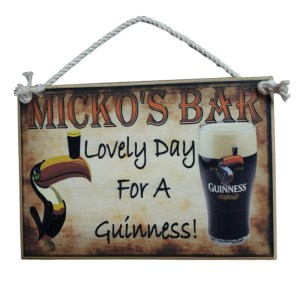 Country Printed Quality Wooden Sign Personalized Bar Guinness Inspiring Plaque New