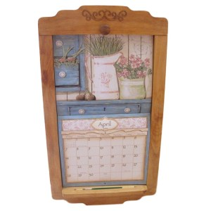 2019 Lang Legacy Calendar PINE FLIP FRAME Wooden New Display your Calender