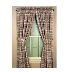 French Country New Curtain Ruffled THYME CHECKED Kitchen Window PAN*ELS Style