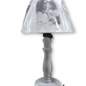 French Country Vintage Inspired Nostalgic Girl White Based Lamp New