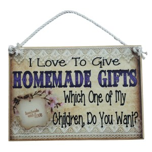 Country Printed Quality Wooden Sign I Love Homemade Gifts Inspiring Plaque New