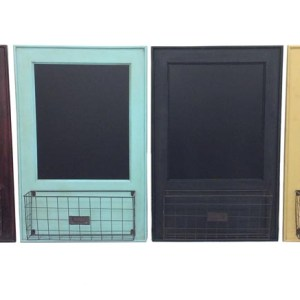 Large Decorative Black Boards Hanging with Metal Baskets
