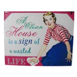 French Country Vintage Inspired Wall Tin Sign I LOVE FABULOUS SHOES Wall Art New
