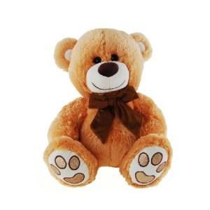 Plush Teddybear Golden Teddy Bear Glitter Foot New and very Cuddly
