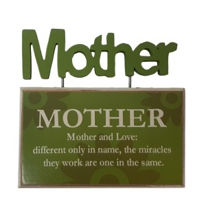 French Country Vintage Inspired Tabletop Sign MOTHER AND LOVE New Plaque