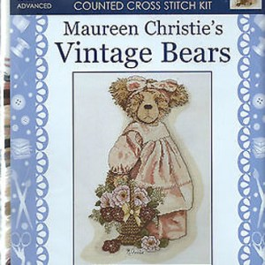 Country Threads Cross Stitch Kit - Vintage Bears Billyanna