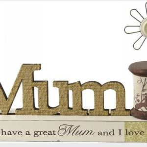 Wooden Sign French Country Vintage Inspired Mum Table Top Plaque Spindle New