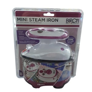 Birch Mini Steam Iron for Craft and Travel Caravans Motorhomes Quilting New