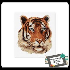 DMC Cross Stitch Kit TIGER, Counted X Stitch NEW incl Thread & Cloth