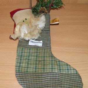Country Christmas Primitive Santa Stocking Ornamental Decoration Xmas New