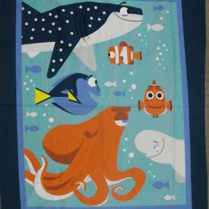 Country Patchwork Quilting Fabric FINDING DORY NEMO Panel 90x110cm New Material