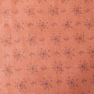 Quilting Patchwork Sewing Fabric RUST FLOWERS TONAL 50x55cm FQ NEW