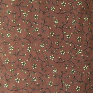 Quilting Patchwork Sewing Fabric ROSEWOOD FLOWERS TONAL 50x55cmFQ NEW