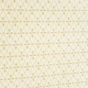Quilting Patchwork Sewing Cotton Fabric LIZZY'S GARDEN CREAM 50x55cm FQ NEW