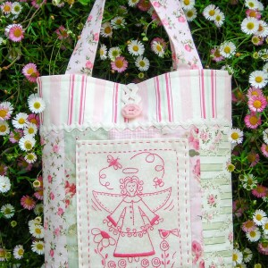 Quilting Sewing Bag Pattern GARDEN ANGEL Sally Giblin Rivendale Collection NEW
