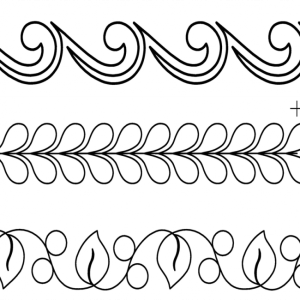 Quilting Full Line Stencil Border Assort. Reusable for Quilts use Pounce New