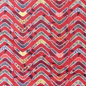Quilting Patchwork Sewing Fabric RED BOOMERANG Cotton Material 50x55cmFQ NEW