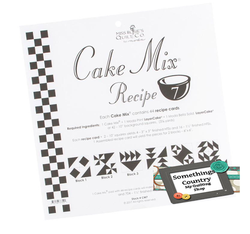 Quilting Sewing Quilt Pattern MODA CAKE MIX 7 Preprinted