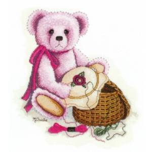 DMC Cross Stitch Kit VINTAGE BEARS STITCHING BEAR X Stitch NEW incl Thread KIT