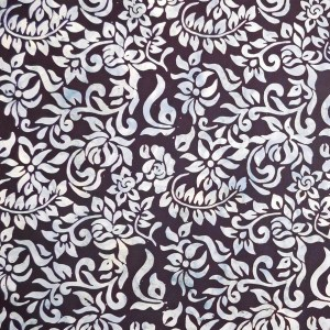 Quilting Patchwork Sewing Fabric BATIK WHITE ON BLACK Material 50x55cmFQ NEW