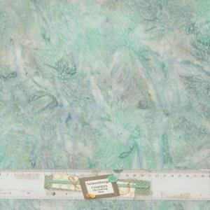 Patchwork Quilting Sewing Fabric BATIK BLUE GREY PETALS 50x55cm FQ New