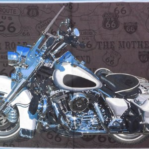 Patchwork Quilting Sewing Fabric AMERICAN DREAM MOTORBIKE Panel 60x110cm New