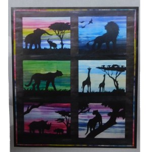 Quilting Sewing African Animals Quilt Pattern Set of 6 Designs NO Fabric New