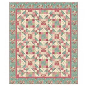 Quilting Sewing WELCOME HOME QUILT Kit Top Panel inc Fabric Throw Size New