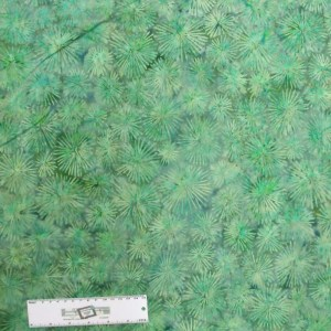 Patchwork Quilting Sewing Batik Fabric BLUE GREEN FLOWERS 50x55cm FQ New