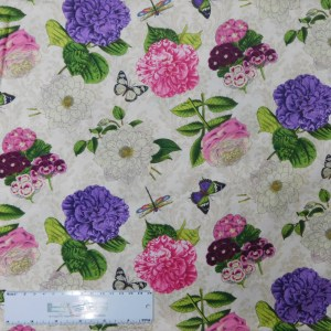Patchwork Quilting Sewing Fabric FLOWER SHOW 50x55cm FQ Cotton New