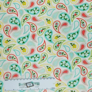 Patchwork Quilting Sewing Fabric PAISLEY PRINT 50x55cm FQ Cotton New